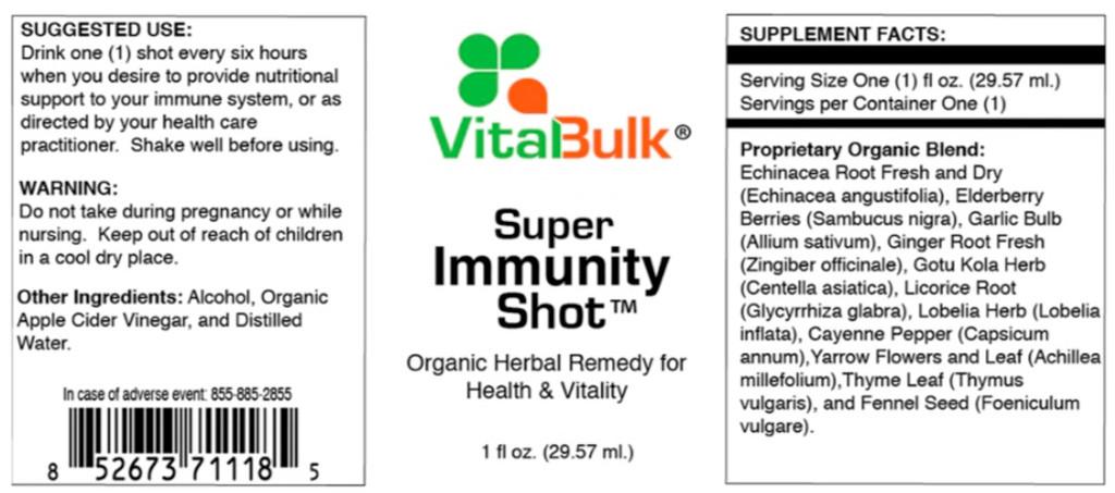 Super Immunity Shot 32 oz. bottle