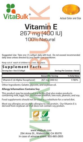 E 267 mg (400 IU) Softgel