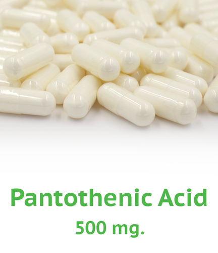 B-5 Pantothenic Acid 500 mg Capsule