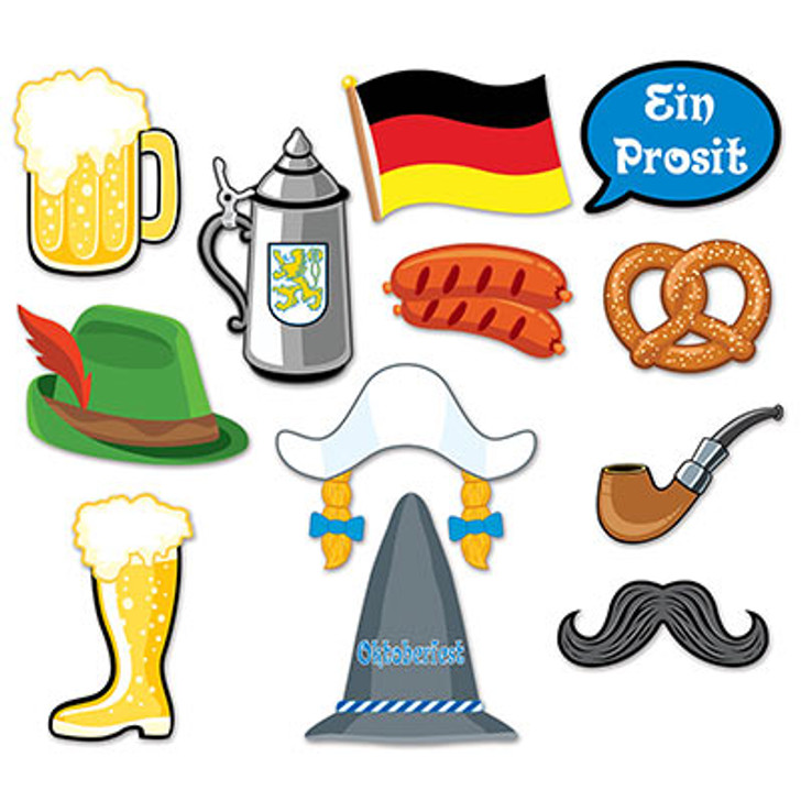 Oktoberfest Photo Fun Signs - 12 pieces