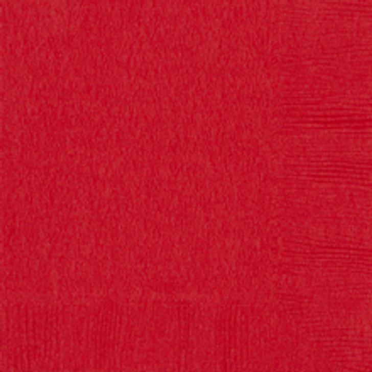 Classic Red Beverage Napkins - 50 ct