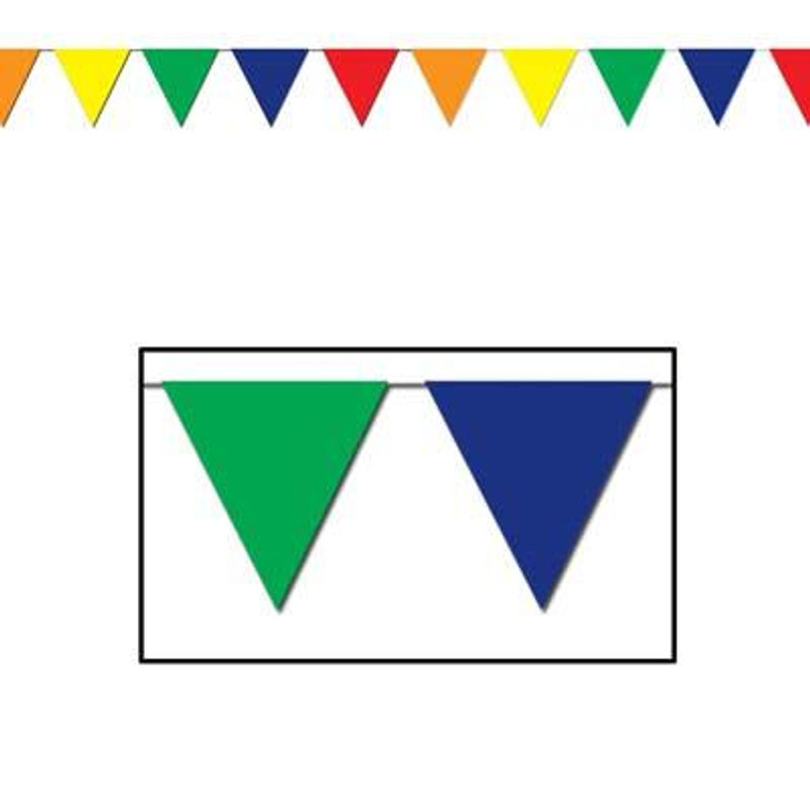 Sports Indoor/Outdoor Pennant Banner Multi-Color 120 ft.