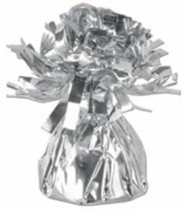 Silver Metallic Wrapped Balloon Weight