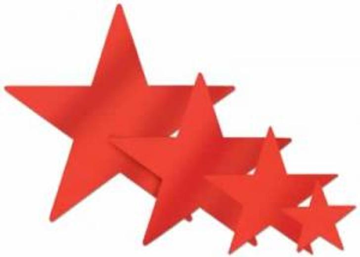 Red 12 Inch Die Cut Foil Star