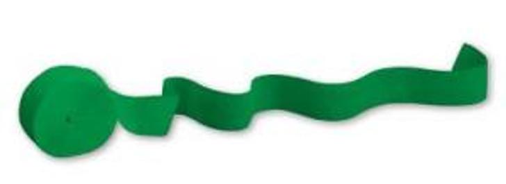 Crepe Paper Streamer Green 81 feet