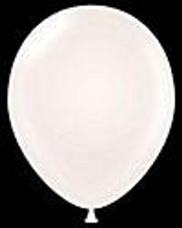 Metallic White Latex Balloon