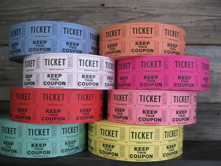 1000 Double Stub raffle Tickets