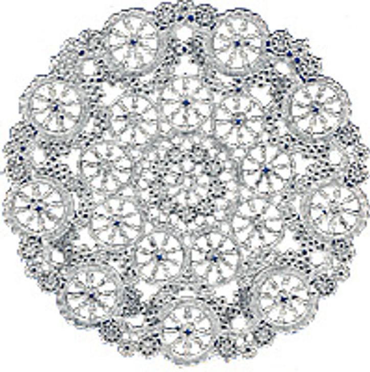"""Royal Lace Silver Foil Paper Medallion Lace Paper Doilies 6"""""""