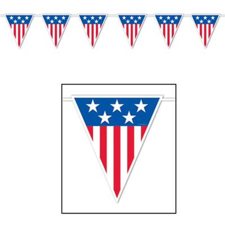 Patriotic American Spirit Giant Pennant Banner