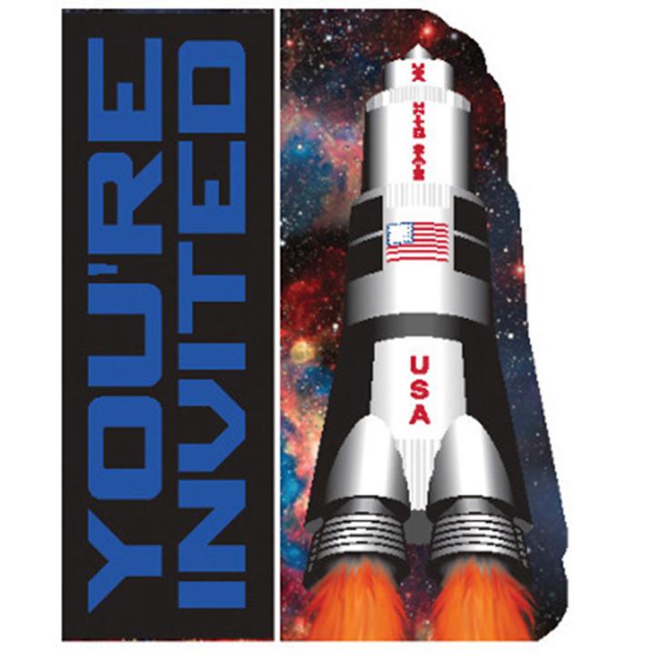 Space Blast Invitations