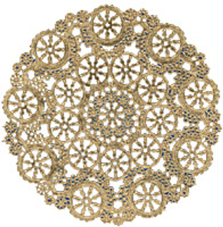 Royal Lace Medallion Gold Foil Paper Doilies 12""