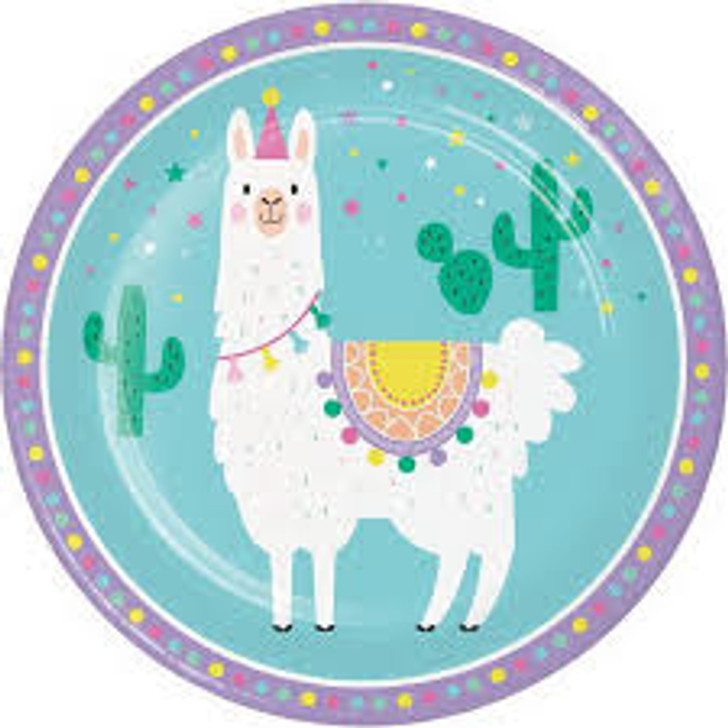 Llama Party 9 Inch Plates
