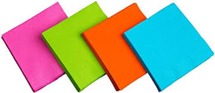 Brights Neon Lunch Napkins - 48 ct. 4 neon colors