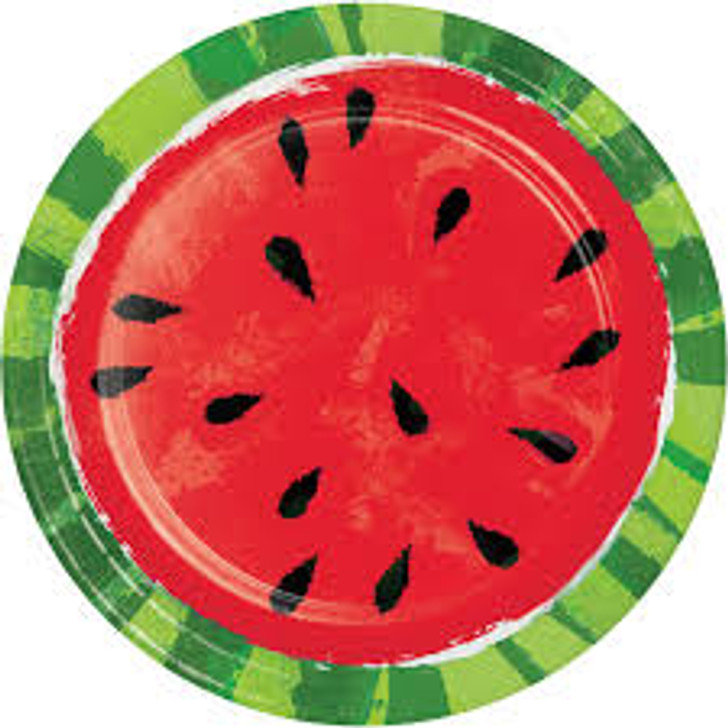 Juicy Watermelon 9 in Plates Summer time
