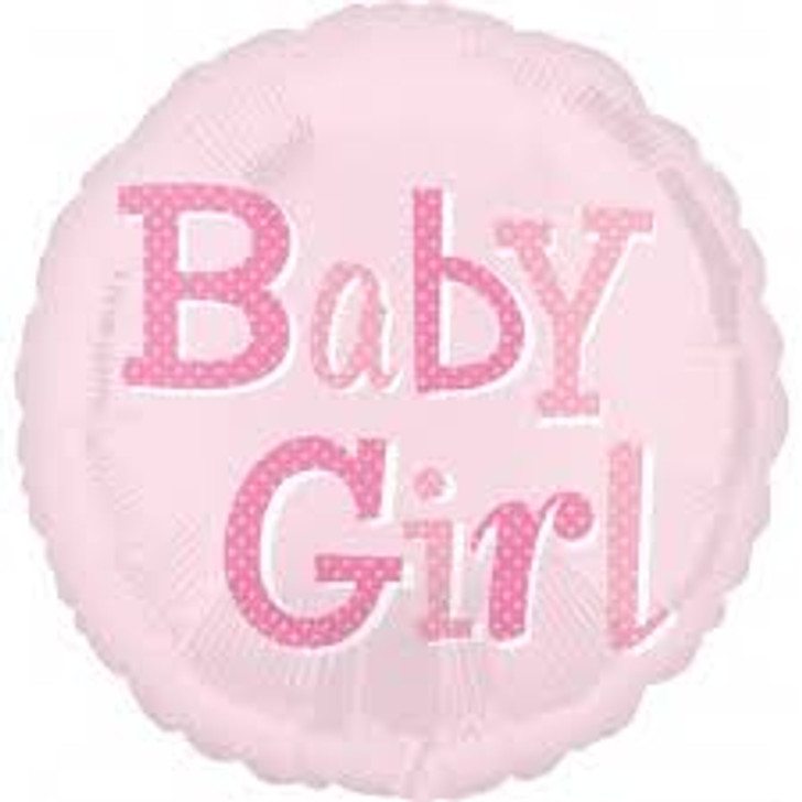 Baby Girl Baby Shower Foil Balloon - 18 in