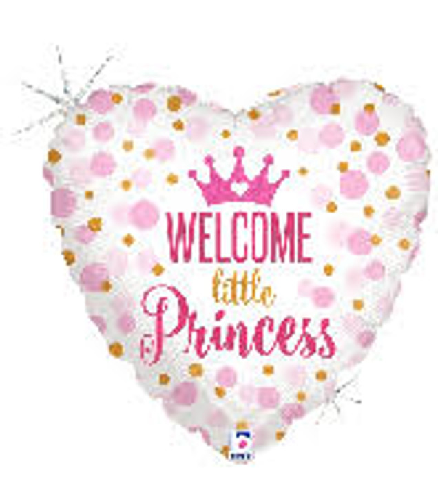 Welcome Little Princess Baby Shower Foil Balloon - 18 in