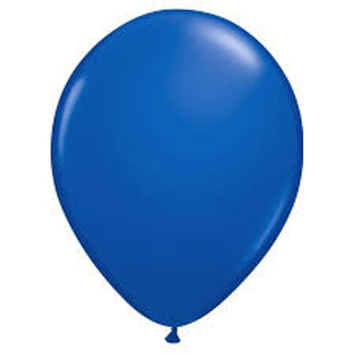 Dark Blue Bulk Solid Color Latex Balloons - 100 ct