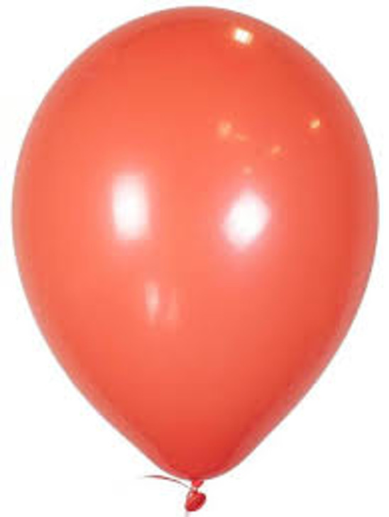 Coral Bulk Solid Color Latex Balloons - 100 ct