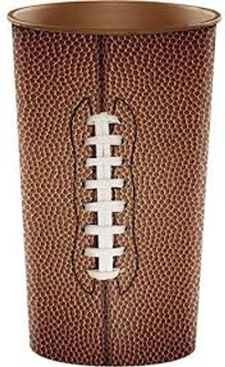 Football 22 oz Plastic Stadium Cup