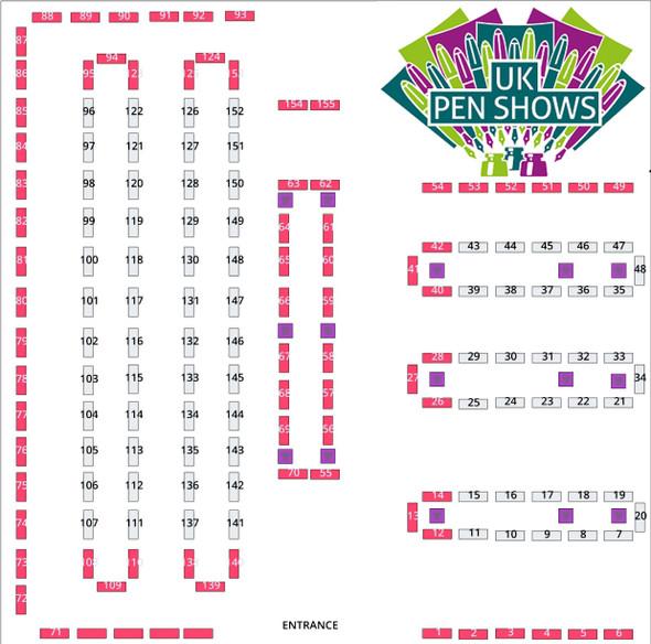 London Spring Pen Show 25th July 2021 Regular Table