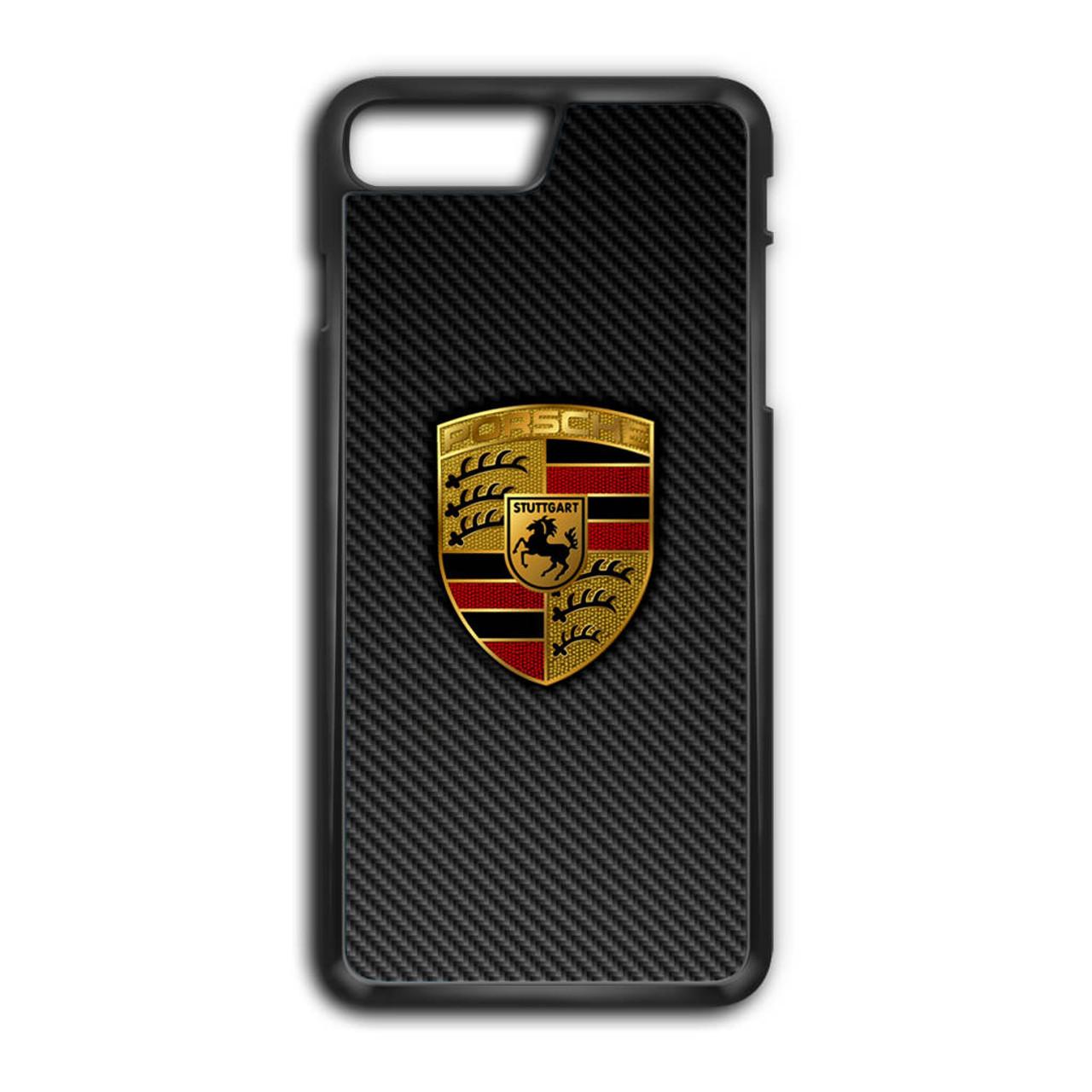 ad36b5cf6d83 Carbon Porsche Logo iPhone 7 Plus Case - GGIANS