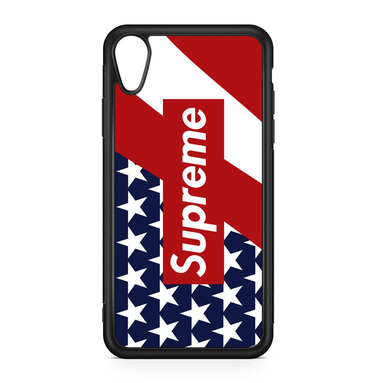 newest cfc38 14223 Supreme Flag iPhone XR Case