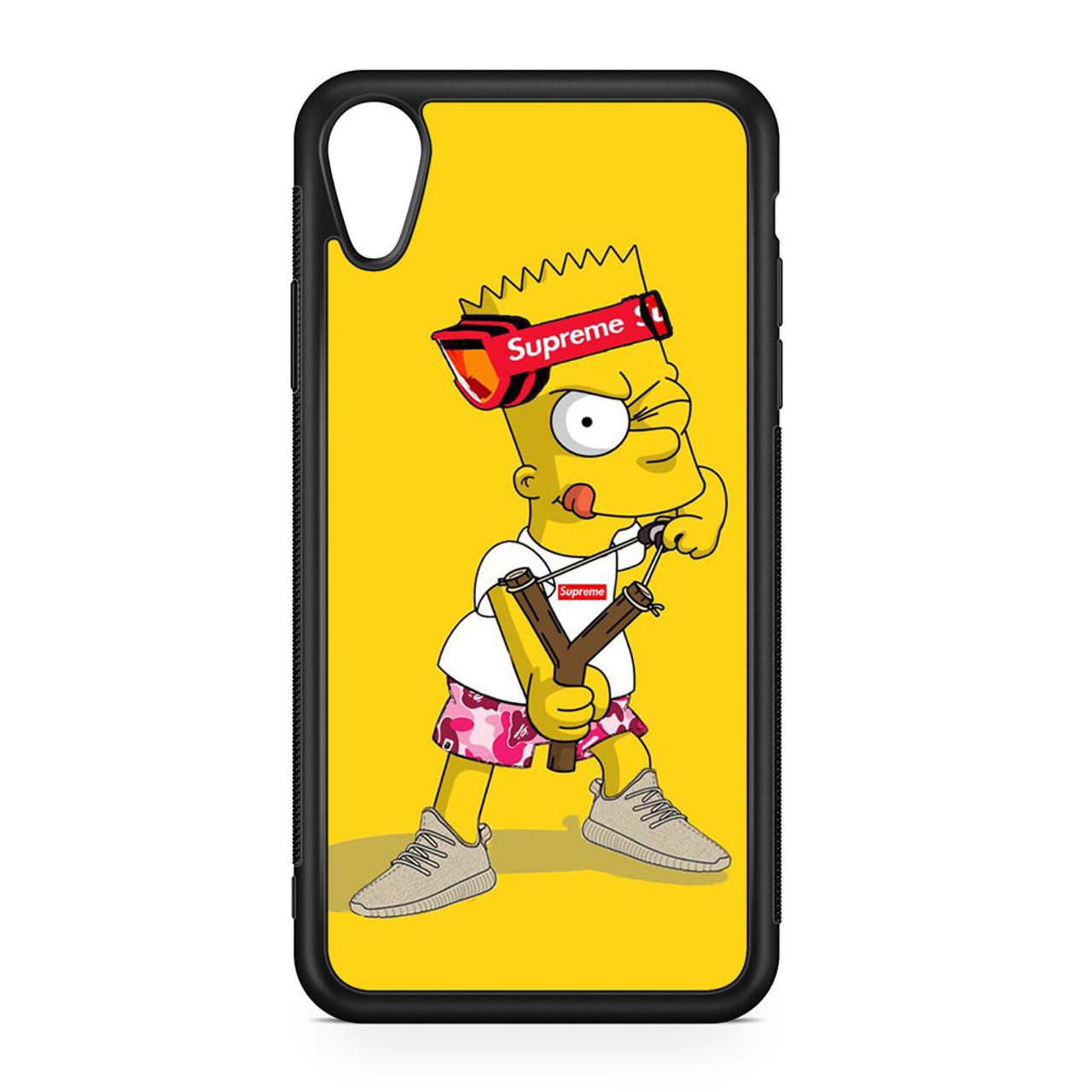 225e240c5452 Explore Bart Simpson Supreme iPhone XR Case - GGIANS