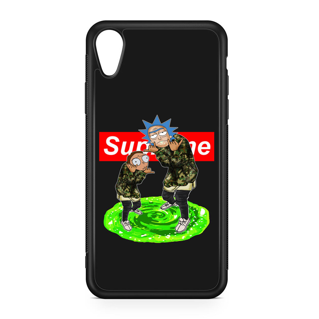 new product b4c48 5046d Rick and Morty Supreme iPhone XR Case