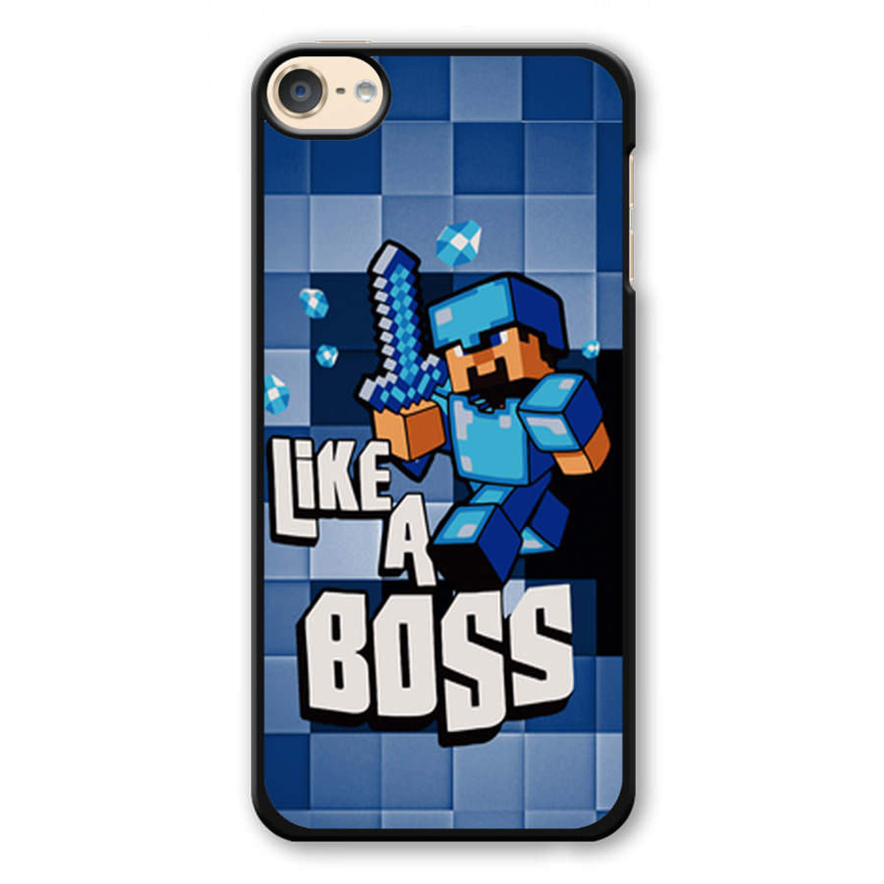 timeless design 68a04 57f53 Blue Minecraft iPod Touch 6 Case