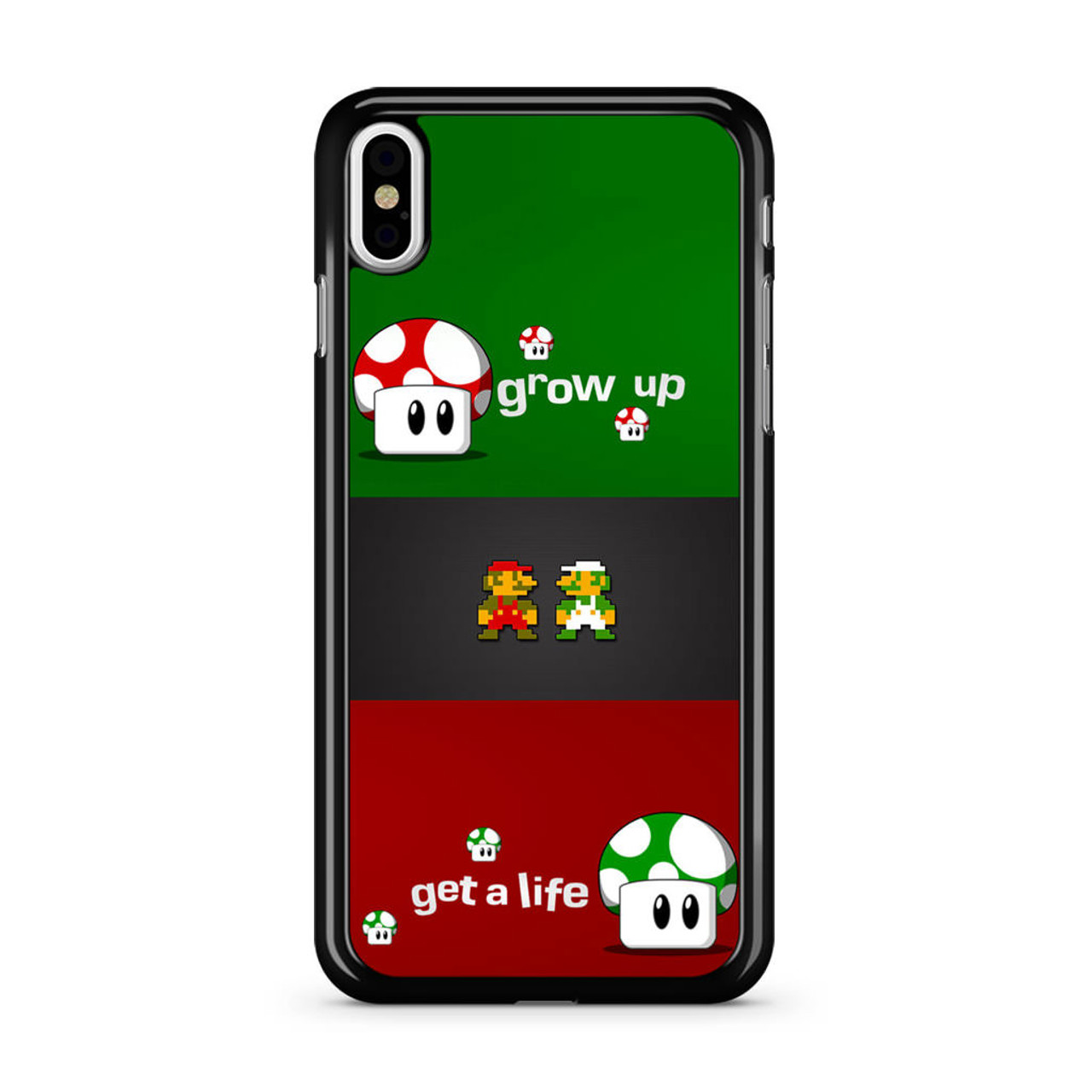 low priced d67b5 7e2b7 Super Mario Grow Up and Get a Life iPhone X Case