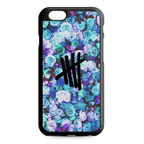 5SOS Logo Natural Flower iPhone 6/6S Case