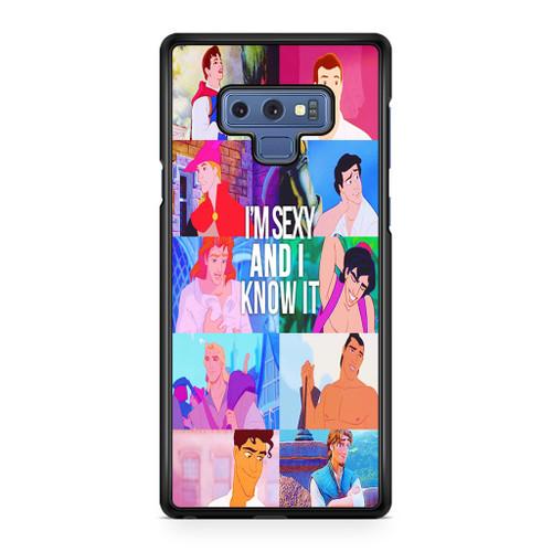 Disney Princes Men Samsung Galaxy Note 9 Case