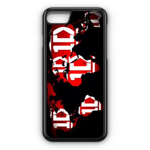 1D Map World iPhone 8 Case