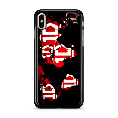 1D Map World iPhone XS Max Case