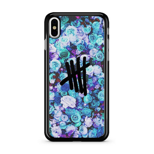 5SOS Logo Natural Flower iPhone XS Max Case