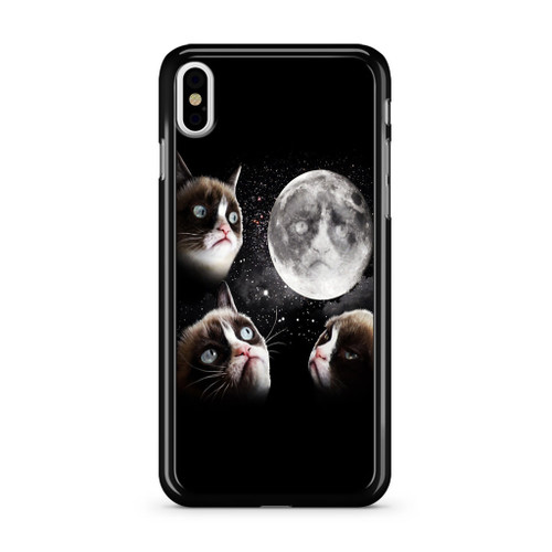 Grumpy Cat and The Moon iPhone XS Max Case