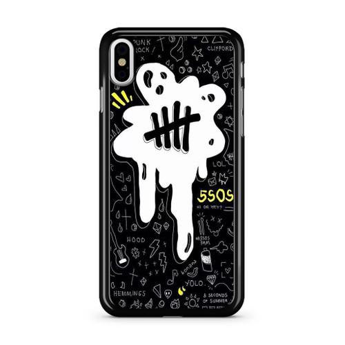 5SOS Melting iPhone XS Max Case