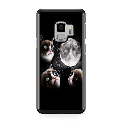 Grumpy Cat and The Moon Samsung Galaxy S9 Case