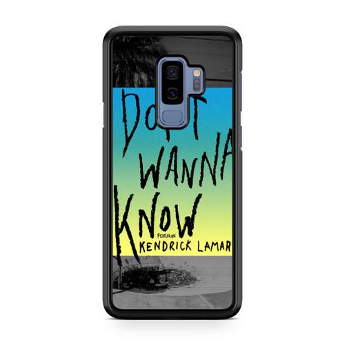 Maroon 5 Don't Wanna Know Samsung Galaxy S9 Plus Case