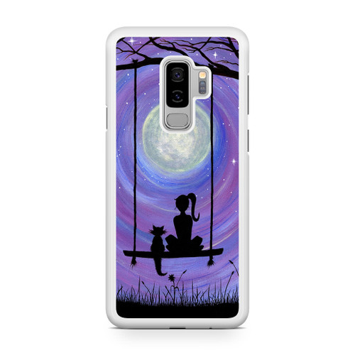 Woman Cat and Moon Samsung Galaxy S9 Plus Case