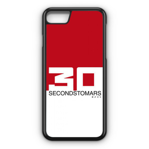 30 Seconds To Mars Red White iPhone 8 Case