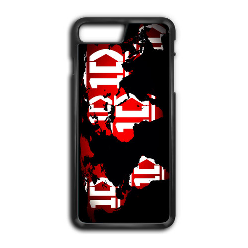 1D Map World iPhone 8 Plus Case