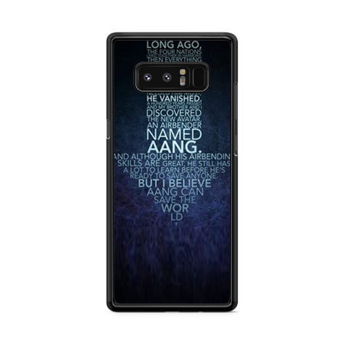 Avatar Quotes Samsung Galaxy Note 8 Case