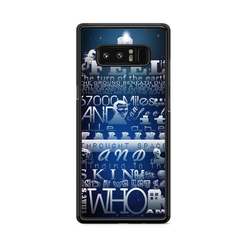 Doctor Who Tardis Quotes Blue Samsung Galaxy Note 8 Case