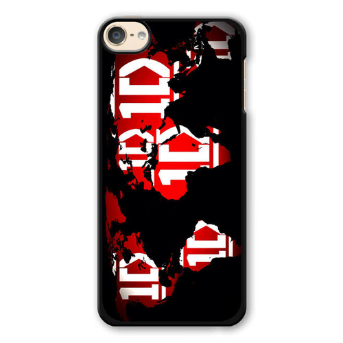 1D Map World iPod Touch 6 Case