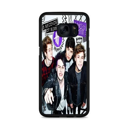 5SOS Poster Don't Stop Samsung Galaxy S7 Edge Case