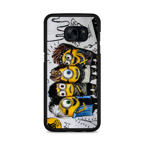5SOS She Looks So Perfect Minions Samsung Galaxy S7 Edge Case