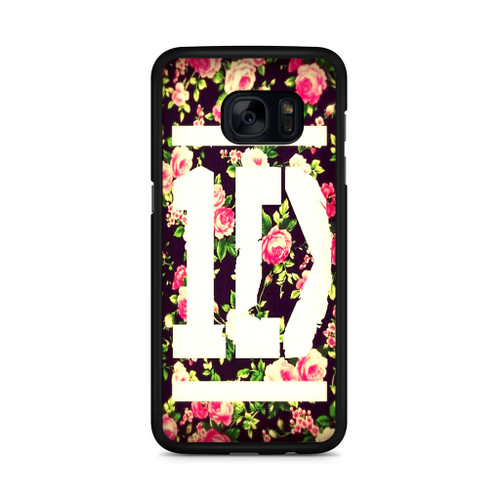 1D Logo Flower Samsung Galaxy S7 Edge Case