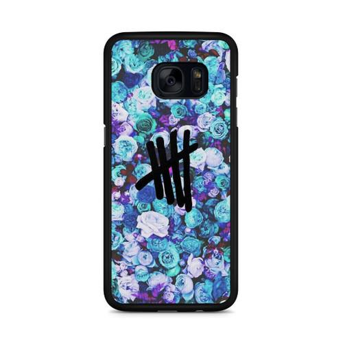 5SOS Logo Natural Flower Samsung Galaxy S7 Edge Case