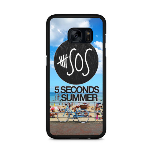 5SOS Logo Sidney Beach Samsung Galaxy S7 Edge Case